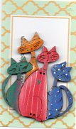 Batch of Cats Bright Button by Theodora Cleave
