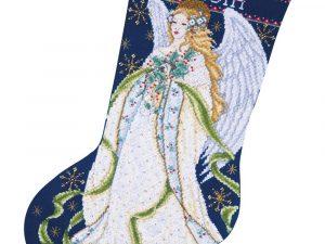 Holly Angel Christmas Stocking Kit DW5963