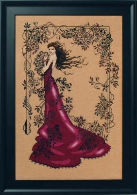 Lady of Mystery Cross Stitch Pattern by Mirabilia MD152