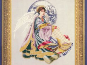 World Peace Angel by Lavender & Lace Cross Stitch Patter L&L51