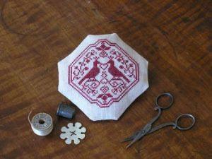 Lovinia Dearbly Pincushion Cross Stitch Pattern from Beehive Needleworks