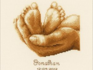 Little Feet Birth Record Cross Stitch Kit by Vervaco V0011671