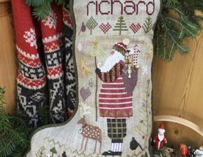 Richard Stocking Kit with DMC & weeks Dye Works Threads