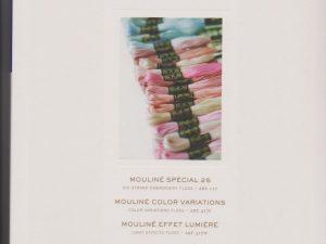 DMC Needlework Threads Colour Card with Thread Samples W100B