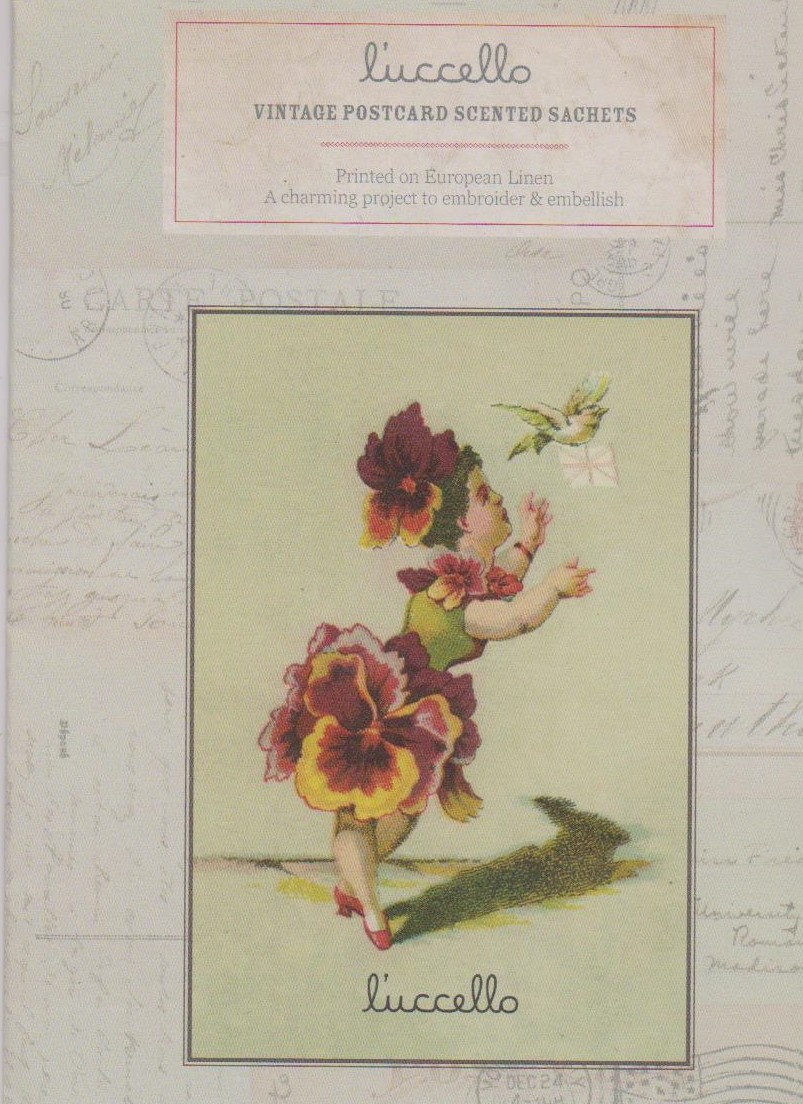 Vintage Postcard Scented Sachet Pattern by l'uccello - Pansy Girl