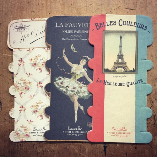 Thread and Ribbon Storage Cards Set of 3 by l'uccello - Set #1