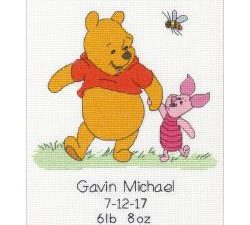 Winnie the Pooh Birth Record Disney Cross Stitch Kit by Dimensions 70-35357
