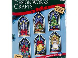 Stained Glass Ornaments Cross Stitch Kit by Design Works DW5909
