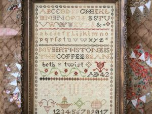 Coffee Bean Sampler Cross Stitch pattern by Heartstring Samplery Magical Elixir Series 4