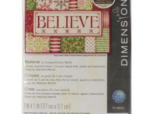 Believe Cross Stitch Kit by Dimensions 70-08921