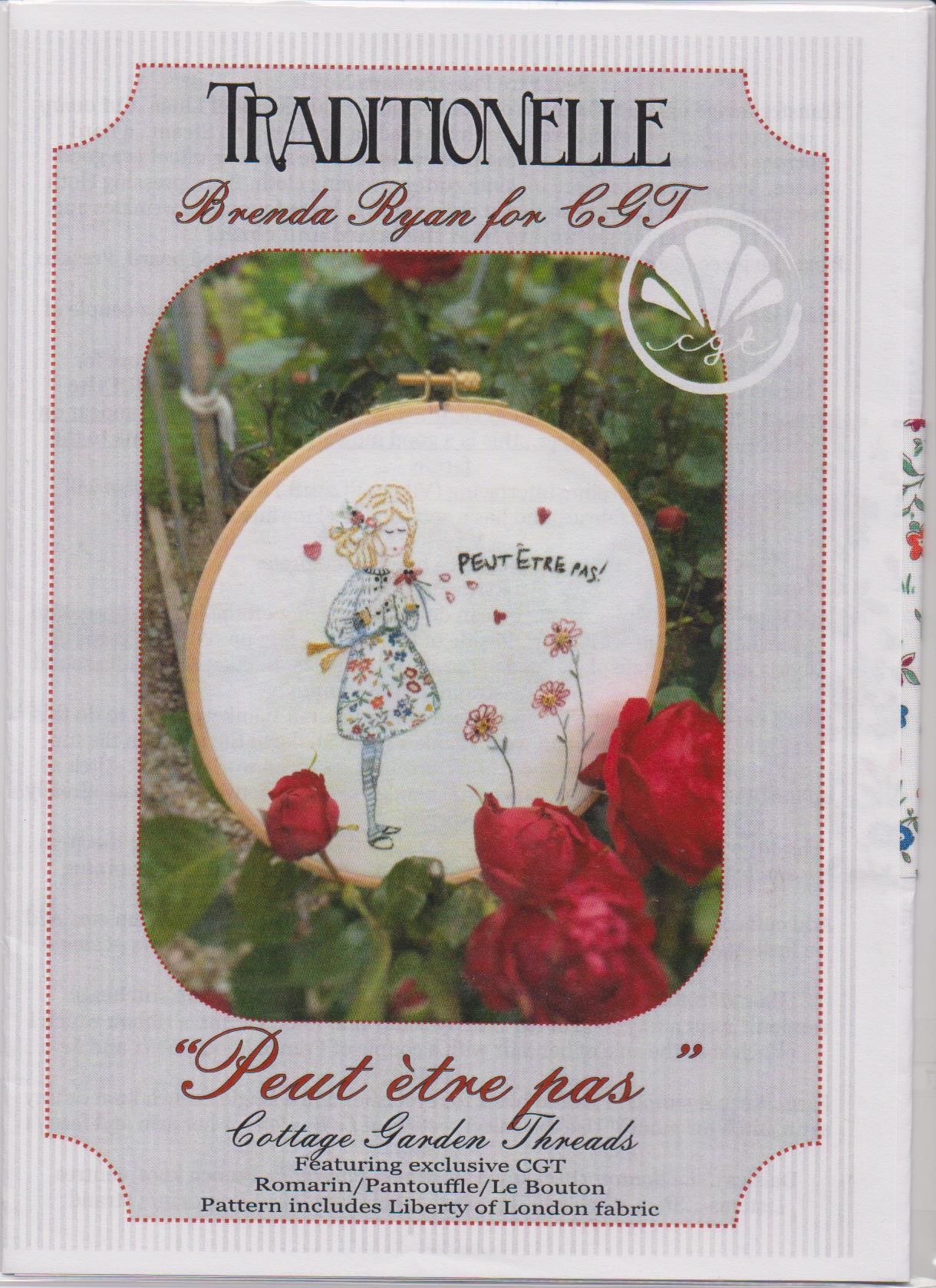 Peut etre pas Embroidery pattern by Brenda Ryan for Cottage Garden Threads