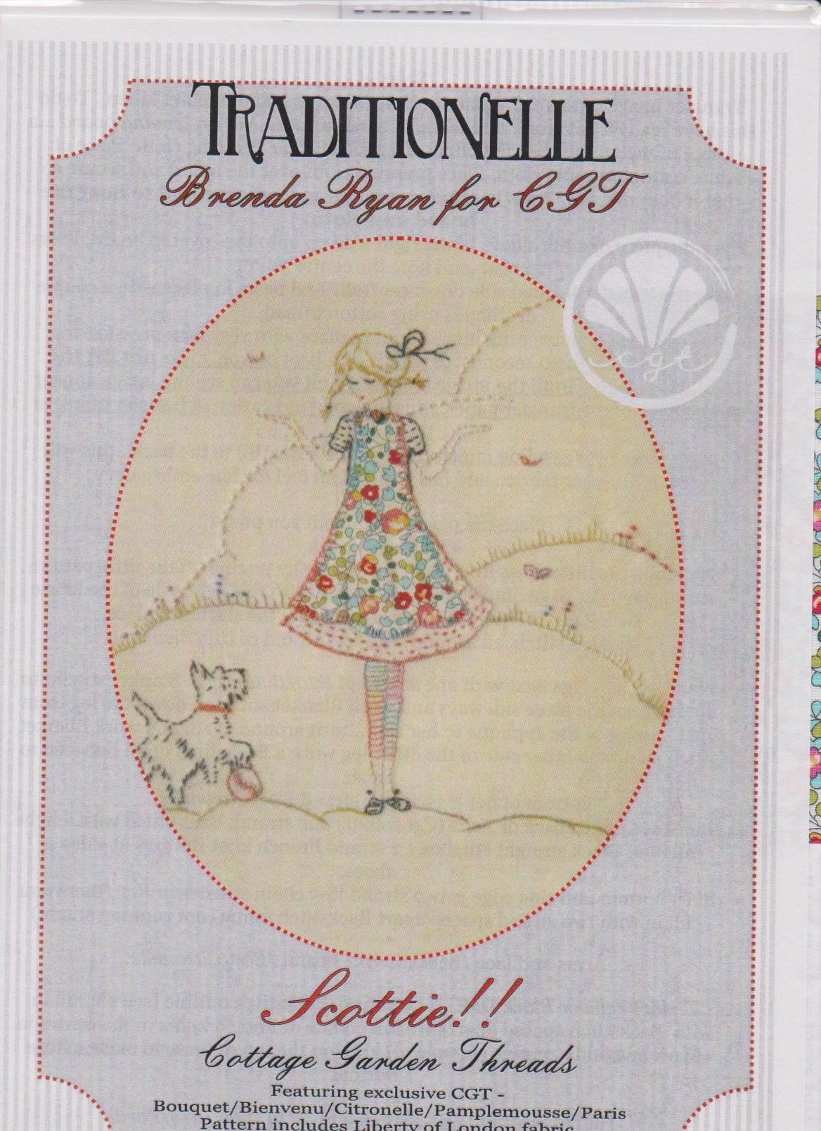 Scottie Embroidery pattern by Brenda Ryan for Cottage Garden Threads