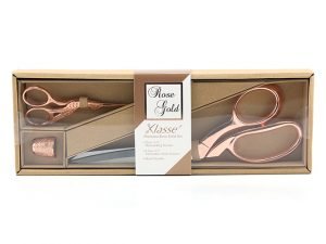 Klasse Scissor Set B4724 3 piece Rose Gold Colour Set
