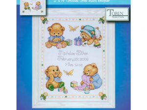 Baby Bears Birth Record Cross Stitch Kit from Tobin T21711