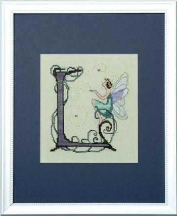 "Letter ""L"" Fairies by Norah Corbett Cross Stitch Pattern"