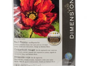 Red Poppy Mini Cross Stitch Kit by Dimensions 70-07246