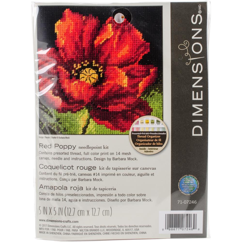Red Poppy Mini Cross Stitch Kit by Dimensions 70-07246