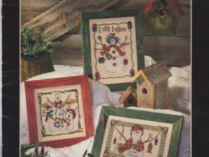 Snow Folks Cross Stitch Pattern by Anne McKinney for Dimensions #259