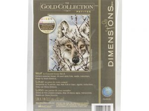 Wolf Gold Petite Cross Stitch kit from Dimensions 70-65131