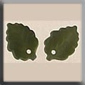 12144 Glass Treasures-Medium Leaf Matte Olive  - 2 in pack
