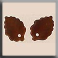 Glass Treasure 12202 Medium Leaf Matte Autumn Topaz - 2 in pack