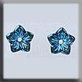Glass Treasure 12223 Jasmine Flower - Light Sapphire 2 per pack