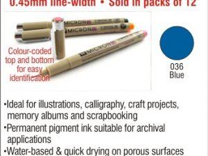 Pigma Micron 05 - Blue - Fine Point 0.45mm