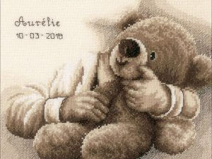 My First Teddy Bear Cross Stitch Kit by Vervaco