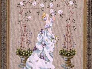 Rose Arbour Cross Stitch Pattern by Nora Corbett from Mirabilia Designs MD48