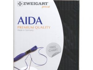 720 Black Zweigart Aida 14 Count Pack 19 x 21 inch piece