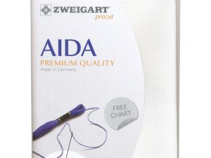 100 White Zweigart Aida 14 Count Pack 19 x 21 inch piece