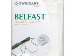 32ct Belfast Linen White 48 x 68 cm Pack by Zweigart Z3609/100