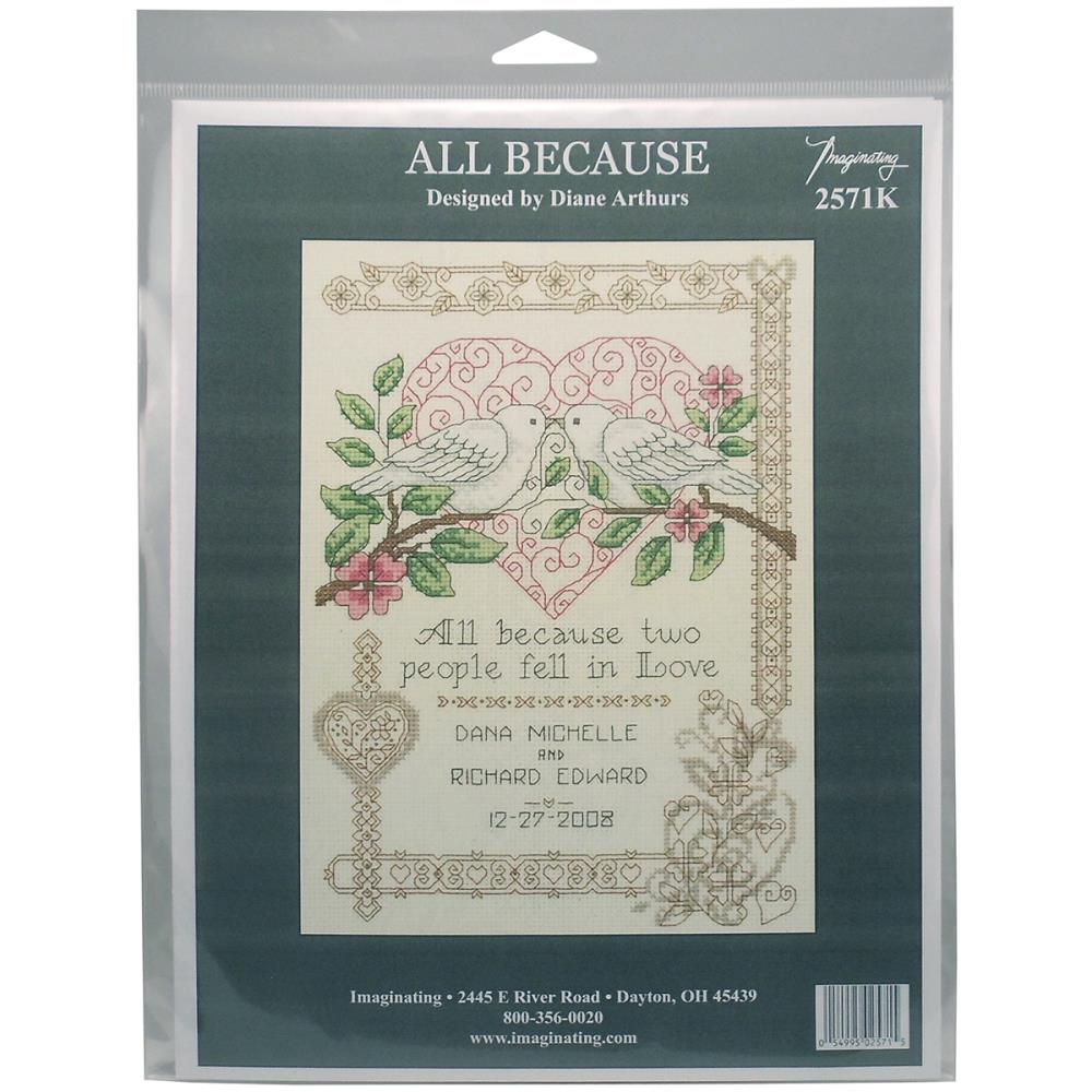 All Because Wedding Cross Stitch Kit by Imaginating I2571