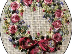 Summer Splendour Wreath Cross Stitch Pattern by Cross-Point Designs
