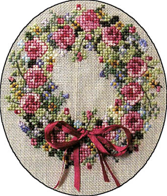 Summer Splendour Wreath Cross Stitch Pattern by Cross-Point Designs