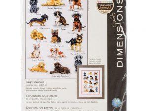 Dog Sampler Dimensions Cross Stitch Kit 70-35353