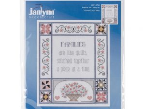 Families are Like Quilts  Cross Stitch Kit by Janlynn 21-1743