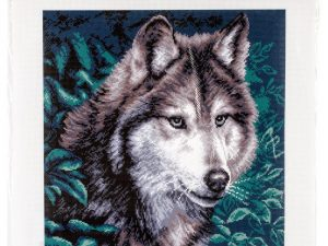 Wolf Stamped Cross Stitch by Collection D'Art CDPA0970