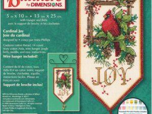 Cardinal Joy Banner Mini Cross Stitch Kit by Dimensions 8822