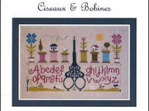 Ciseaux & Bobines Cross Stitch Pattern by Jardin Prive C6915