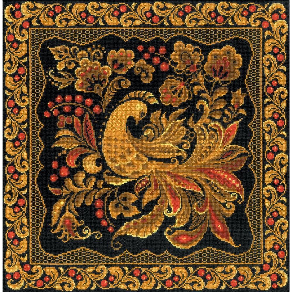 Khokhloma Painting Cushion Kit by  Riolis R1758