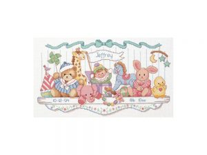 Toy Shelf Birth Record Cross Stitch Kit by Dimensions 3729