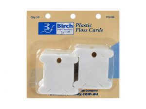 Birch Plastic Floss Bobbins Pack of 50