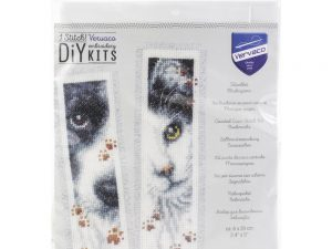 Dog and Cat Bookmarks Cross Stitch Kit by Vervaco PN-0155651