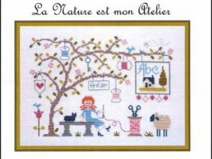 La Nature est mon Atelier Cross Stitch Pattern by Jardin Prive C6399