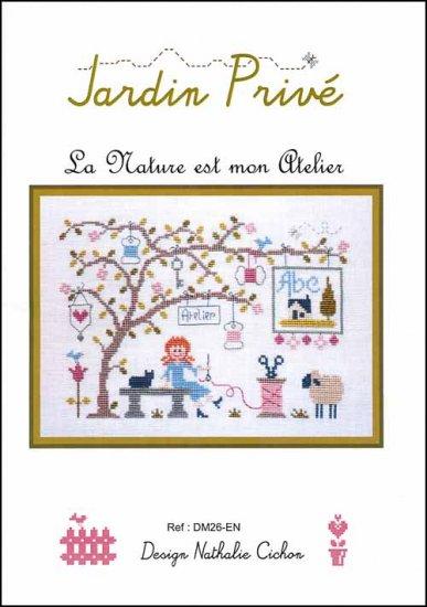La Nature est mon Atelier Cross Stitch Pattern by Jardin Prive C6399