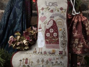 Lois Christmas Stocking Kit with DMC Threads , Weeks and Classic Colourworks Threads