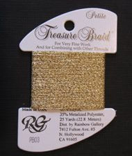 PB03 Gold Rainbow Gallery Petite Treasure Braid