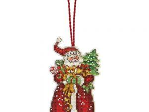 Santa Ornament by Susan Winglet Dimensions Cross Stitch Kit 70-08895