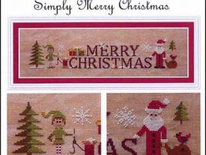 Simply Merry Christmas Cross Stitch Pattern by Jardin Prive J 1616